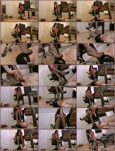Stocking Foot Stool Female Domination