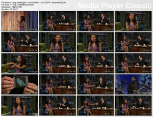 "KERRY WASHINGTON - ""Jimmy Fallon"" (January 16, 2010) - *interview, legs*"